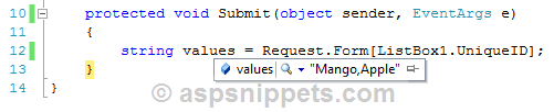 Add (Insert) Items to ASP.Net ListBox using jQuery